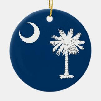 サウスカロライナの旗を持つオーナメント セラミックオーナメント