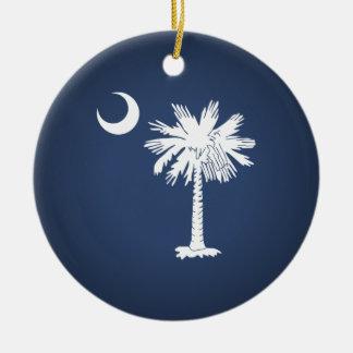 サウスカロライナの旗 セラミックオーナメント