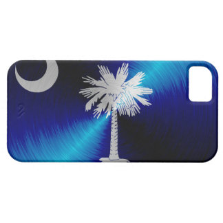 サウスカロライナの旗; 金属一見のiPhone 5つのケース iPhone SE/5/5s ケース