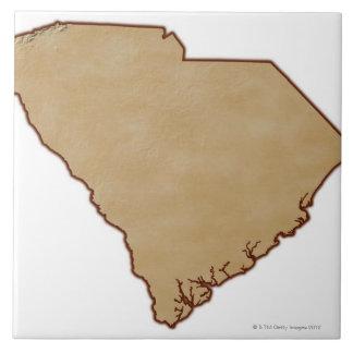 サウスカロライナの立体模型地図 タイル