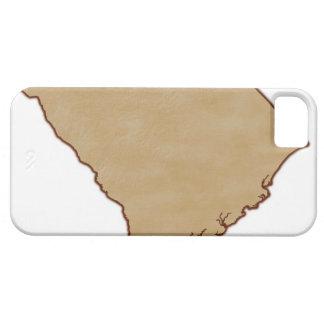 サウスカロライナの立体模型地図 iPhone SE/5/5s ケース