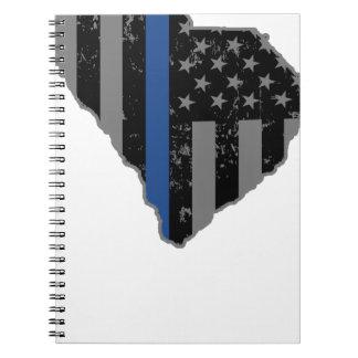 サウスカロライナの警察及び法の執行は青を薄くします ノートブック