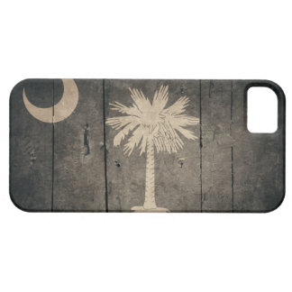 サウスカロライナの険しい木製の旗 iPhone SE/5/5s ケース