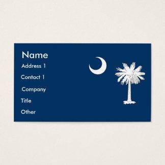 サウスカロライナ米国の旗が付いている名刺 名刺