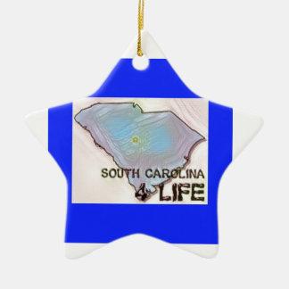 """""""サウスカロライナ4生命""""の州の地図のプライドのデザイン セラミックオーナメント"""