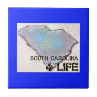 """""""サウスカロライナ4生命""""の州の地図のプライドのデザイン タイル"""