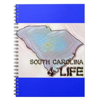 """""""サウスカロライナ4生命""""の州の地図のプライドのデザイン ノートブック"""