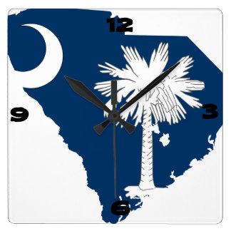 サウスカロライナ スクエア壁時計
