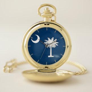 サウスカロライナ、米国の愛国心が強い壊中時計の旗 ポケットウォッチ