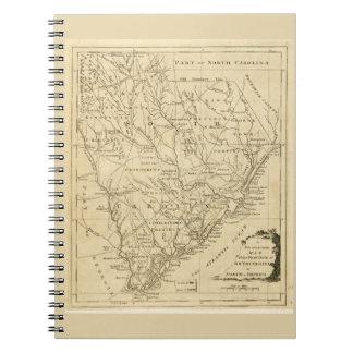 サウスカロライナ(1779年)の地域の地図 ノートブック