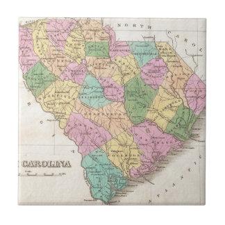 サウスカロライナ(1827年)のヴィンテージの地図 タイル