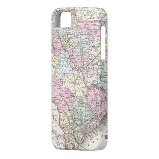 サウスカロライナ(1855年)のヴィンテージの地図 iPhone SE/5/5s ケース
