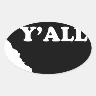 サウスカロライナYall 楕円形シール