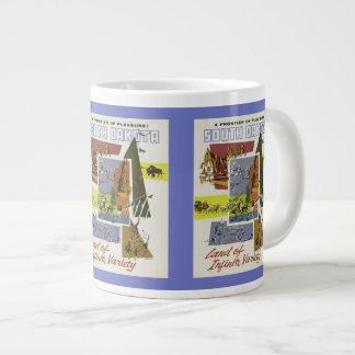 サウスダコタのヴィンテージ旅行ポスターマグ ジャンボコーヒーマグカップ