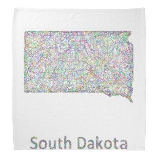 サウスダコタの地図 バンダナ