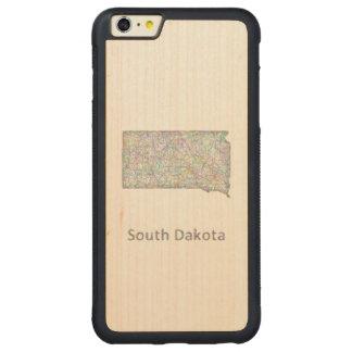 サウスダコタの地図 CarvedメープルiPhone 6 PLUSバンパーケース