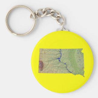 サウスダコタの地図Keychain キーホルダー