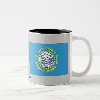 サウスダコタの州の旗 ツートーンマグカップ