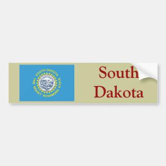 サウスダコタの州の旗 バンパーステッカー