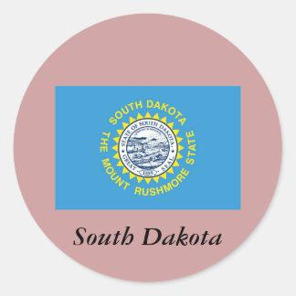 サウスダコタの州の旗 ラウンドシール