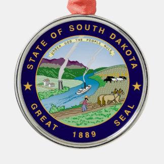 サウスダコタの州の旗sy統一されたなアメリカ共和国 メタルオーナメント