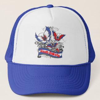 サウスダコタの愛国心の蝶 キャップ