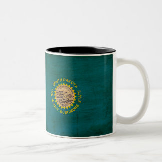 サウスダコタの旗のマグ ツートーンマグカップ