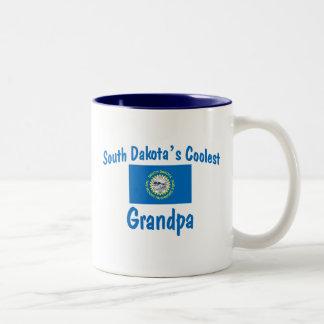 サウスダコタの最もクールな祖父 ツートーンマグカップ