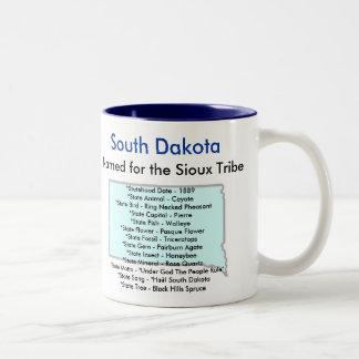サウスダコタの記号及び地図 ツートーンマグカップ