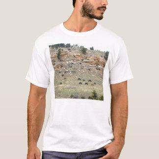 サウスダコタの野生のムスタング Tシャツ