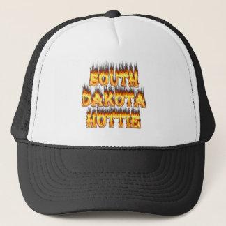 サウスダコタのhottieの火および炎 キャップ