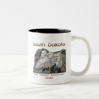 サウスダコタラシュモア山 ツートーンマグカップ