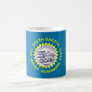 サウスダコタ州米国の旗が付いているマグ コーヒーマグカップ