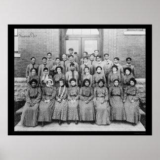 サウスダコタ1909年のFlandreauのインドの聖歌隊 ポスター