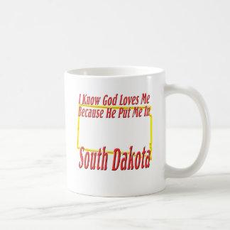 サウスダコタ-神は私を愛します コーヒーマグカップ