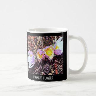 サウスダコタPasqueの花 コーヒーマグカップ