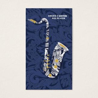 サクソフォーンのサクソフォーンプレーヤー音楽芸術家カード 名刺
