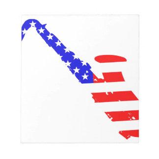 サクソフォーンの旗の背景 ノートパッド