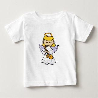 サクソフォーンの芸術を遊ぶ素晴らしい天使 ベビーTシャツ