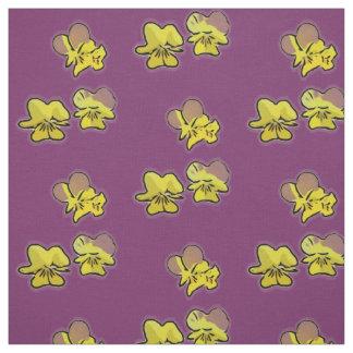 サクラソウは生地(紫色の)咲きます ファブリック