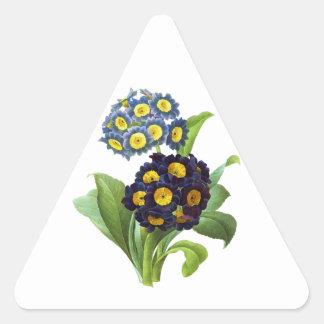 サクラソウ属のAuricula - Cowslip-ピエールヨセフRedoute 三角形シール