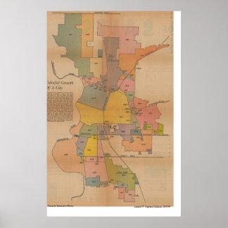 サクラメントの併合Map 1966年 ポスター
