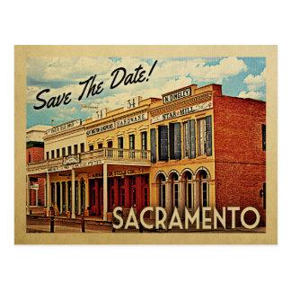 サクラメントの保存日付カリフォルニア ポストカード