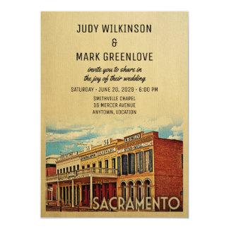 サクラメントの結婚式招待状カリフォルニア カード
