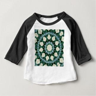 サクラメントの緑および紺碧の曼荼羅 ベビーTシャツ