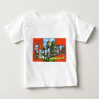 サクラメントカリフォルニアからの挨拶 ベビーTシャツ