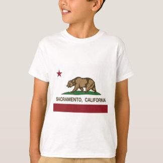 サクラメントカリフォルニアの州の旗 Tシャツ