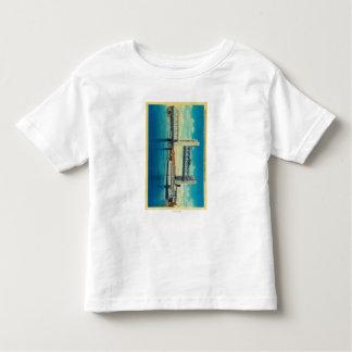 サクラメント川のために上がるタワー橋 トドラーTシャツ