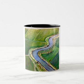 サクラメント川のデルタのアンテナ ツートーンマグカップ