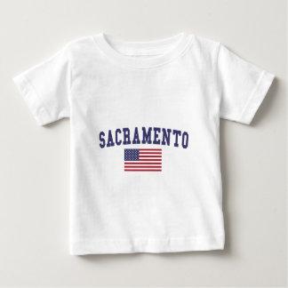 サクラメント米国の旗 ベビーTシャツ